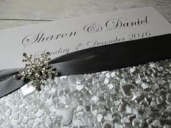 Silver Chequebook Invitation
