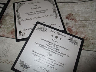 Square Glitter Evening Invitation