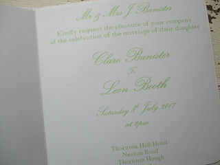 Square Wedding Invitation