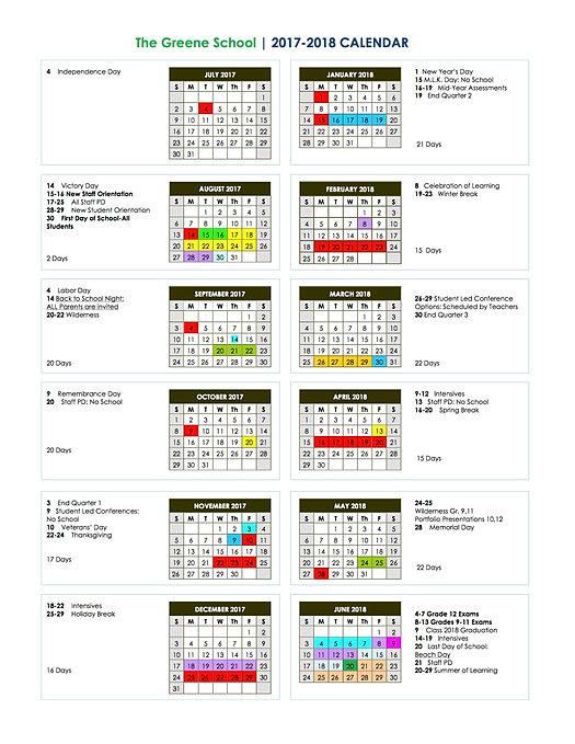 printable academic calendar 2018 16   Yeni.mescale.co