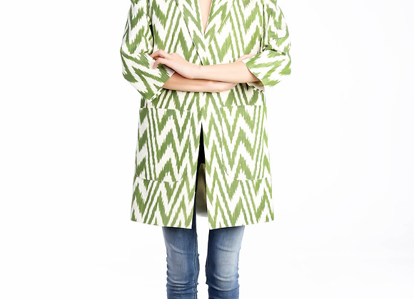 Oversized ZigZag Coat