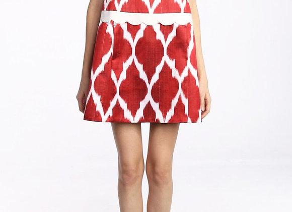 A-Line Point Collar Dress