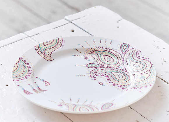 Paisley Jewelry Purple Dinner Plate