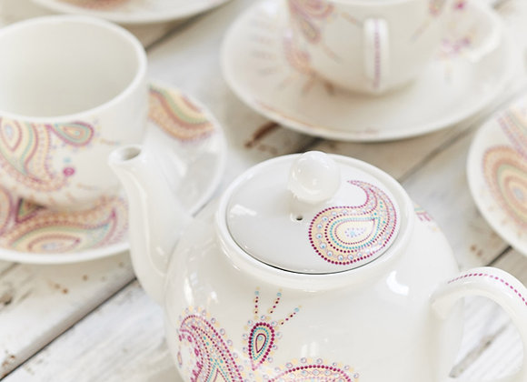 Paisley Jewelry Purple Tea Set