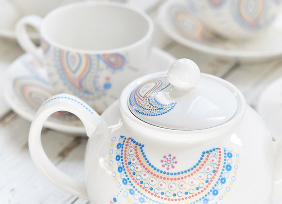 Paisley Jewelry Blue Tea Set