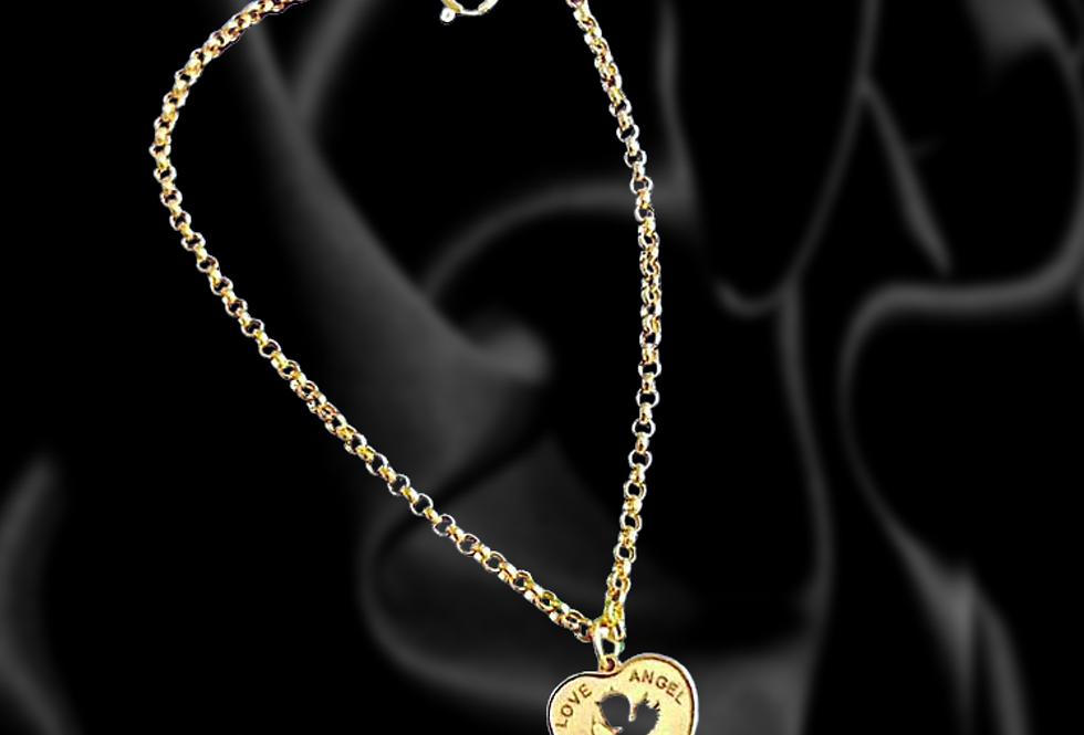 Angel heart gold charm bracelet 18kt