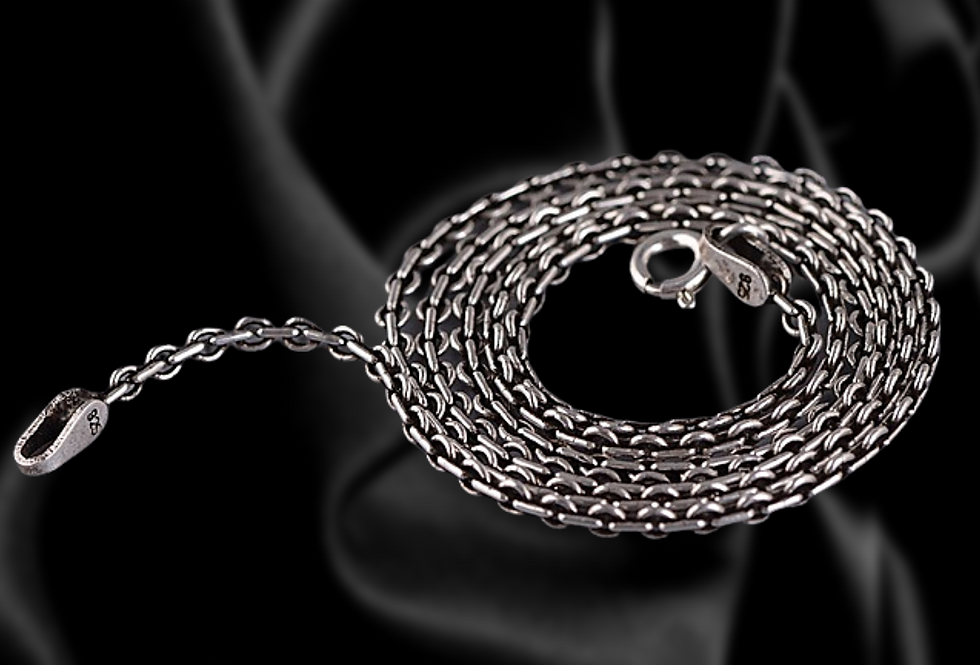 Sterling Silver Coin Link Chain 2mm