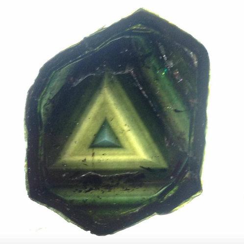 Green Liddicoatite Madagascar Tourmaline Slice