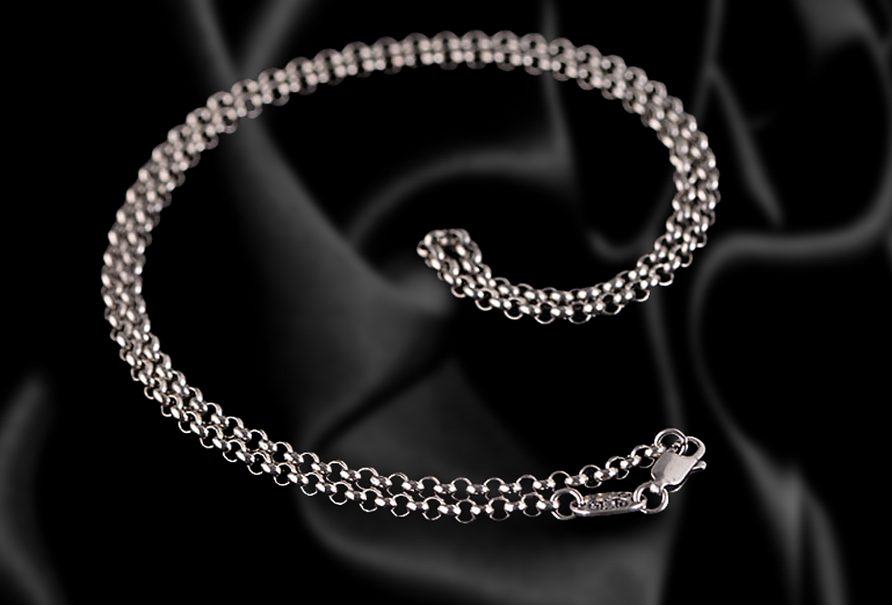 Sterling Silver Coin Link Chain