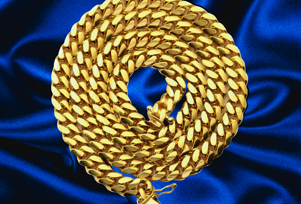 Classic Miami Cuban 4mm Chain in 14kt Yellow Gold
