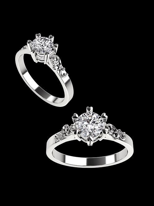 Heartprong ring