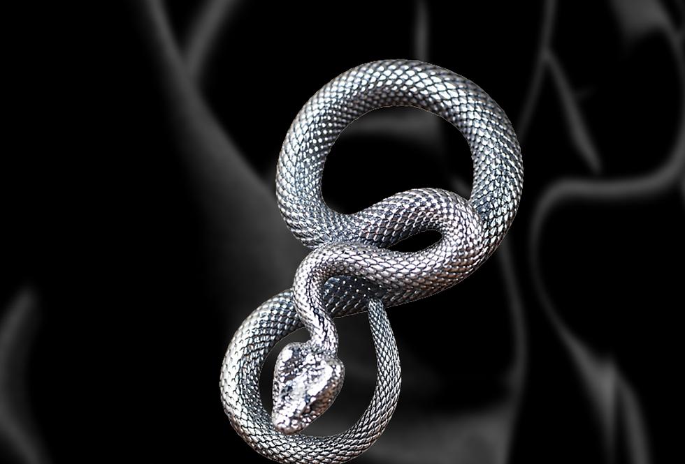 RATTLE- Snake Sterling Silver Pendant