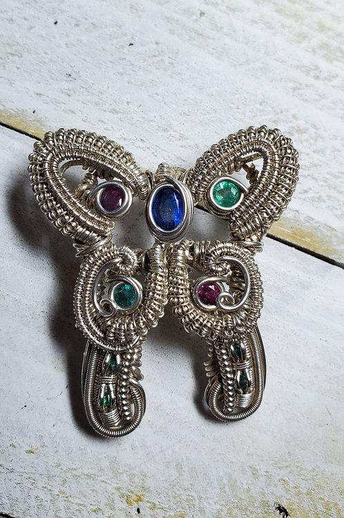 Blue Kyanite Butterly Pendant