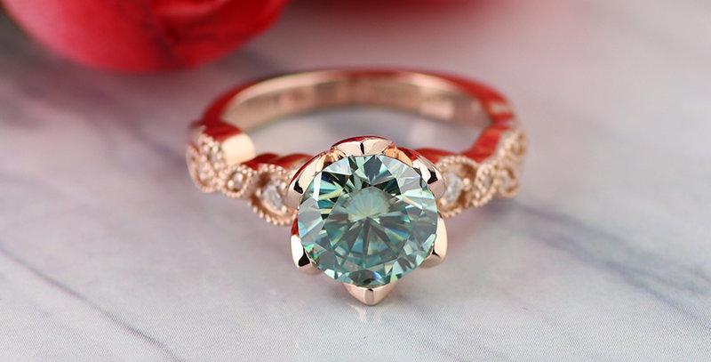 Art Deco Inspired Rose Gold Ring