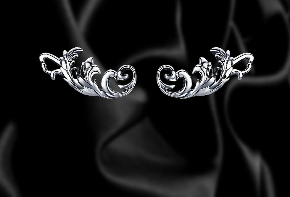 sterling silver scrollwork stud earrings dainty