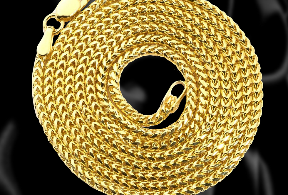 Franco Chain in 14kt Yellow Gold. 3.2mm.