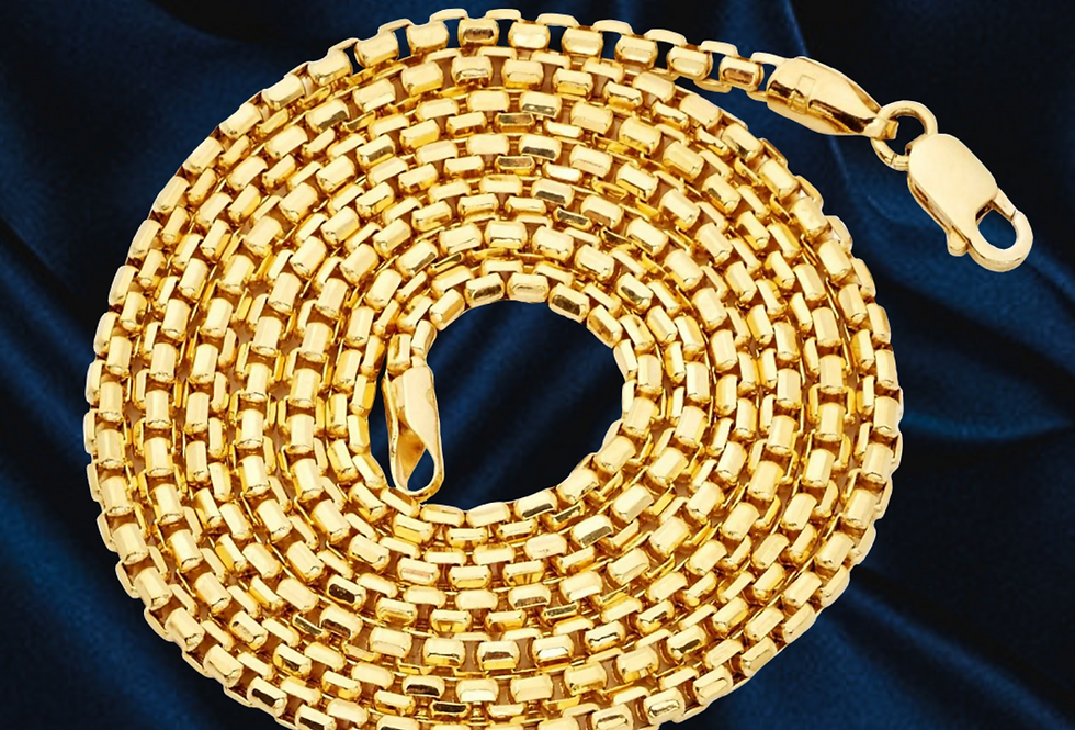 Round Box 2.4mm Chain in 14kt Yellow Gold