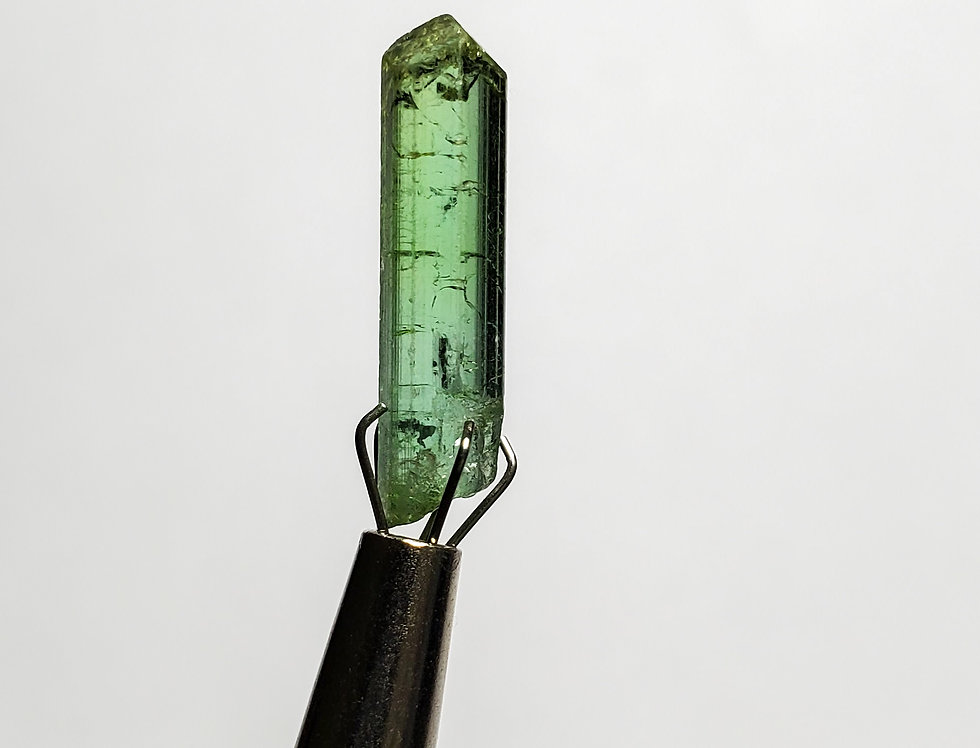 Gemmy Green Tourmaline from The Congo. 1.3 Grams.