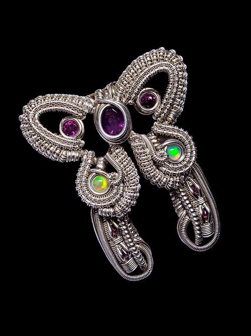 Purple Sapphire Butterfly Pendant