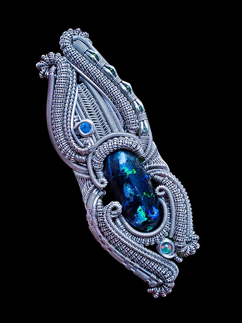 Wood Opal in Sterling Silver Pendant