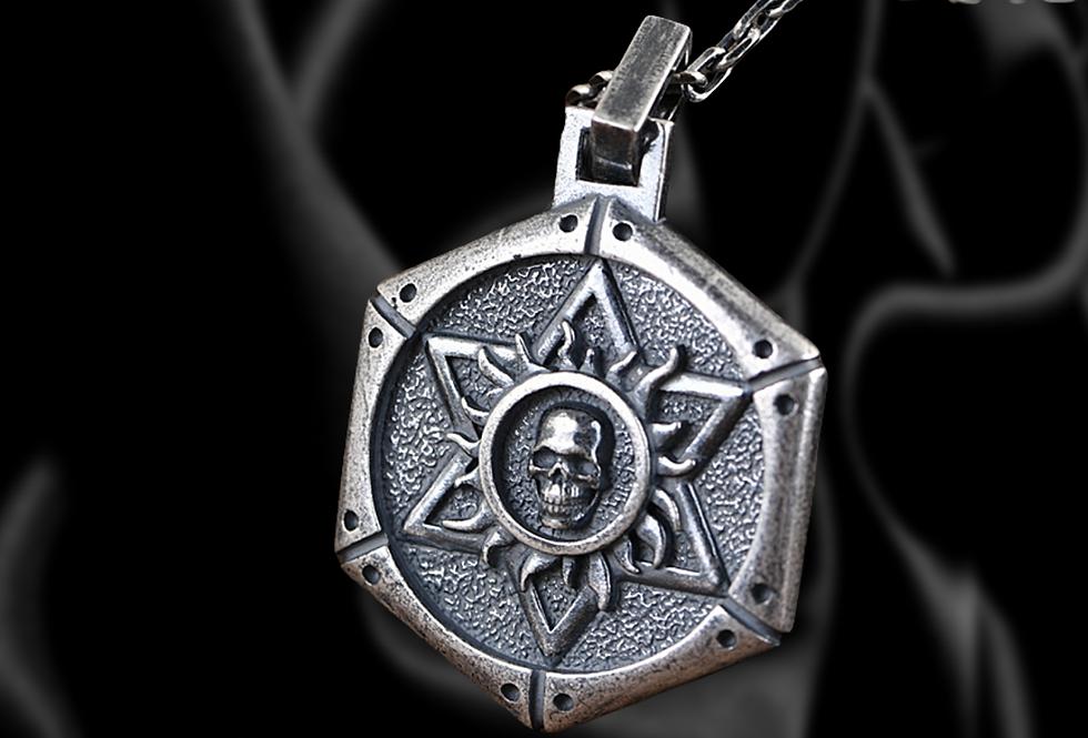 SKYLON- Biomechanical Skull Sterling Silver Pendant