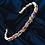 Thumbnail: 14kt gold Baguette Multicolored Sapphire Bangle