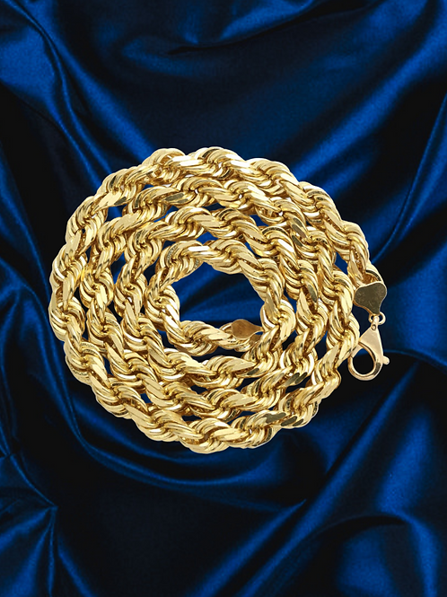 Solid Rope 2mm Chain in 14kt Yellow Gold