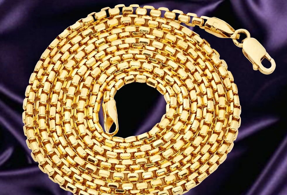 Round Box 1.7mm Chain in 14kt Yellow Gold