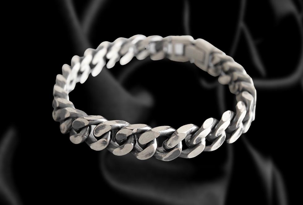 Womens sterling silver cuban bracelets