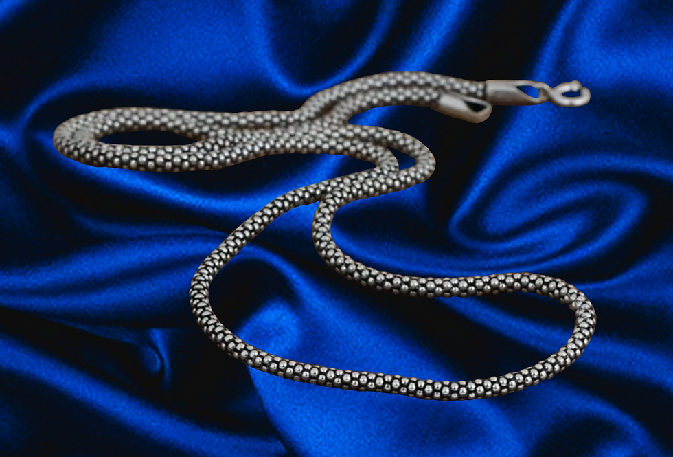 3mm Sterling Silver 925 Popcorn Chain