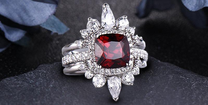 Sunrise Stackable 14kt White Gold Engagement Ring