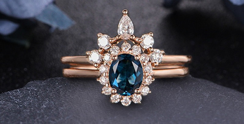 London Blue Topaz 14kt Yellow Gold Engagement Ring