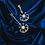 Thumbnail: Alchemist sun and moon 18kt gold diamond dangle earrings