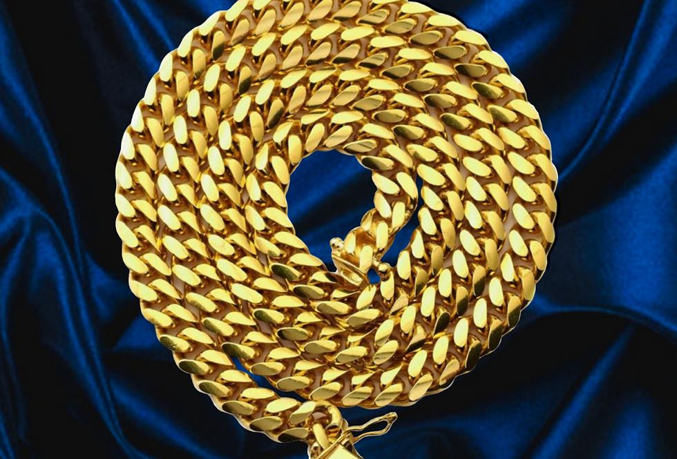 Classic Miami Cuban 9.25 Chain in 14kt Yellow Gold