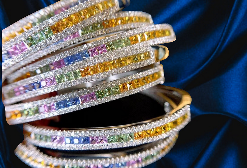 Diamond and Sapphire 18kt Gold Bracelet