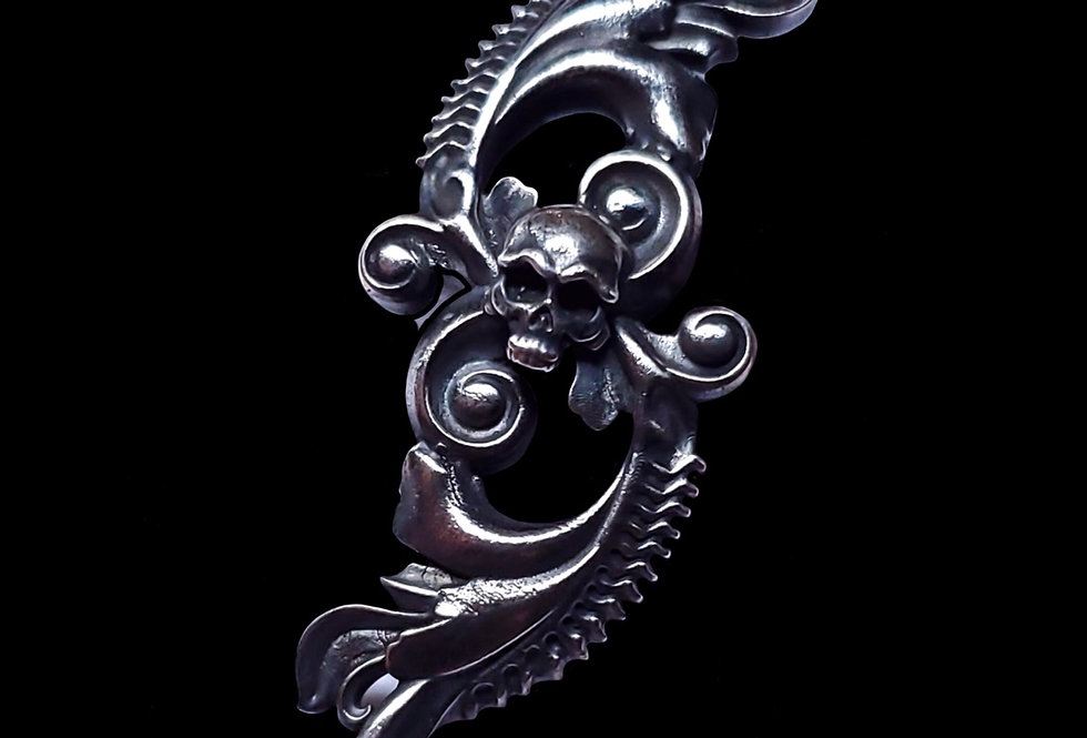 Scrollwork Skull Pendant