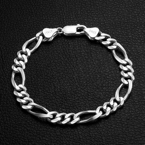 Sterling Silver Figaro Chain Bracelets For Men