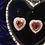 Thumbnail: 18kt Rose Gold Tourmaline Heart Stud Earrings
