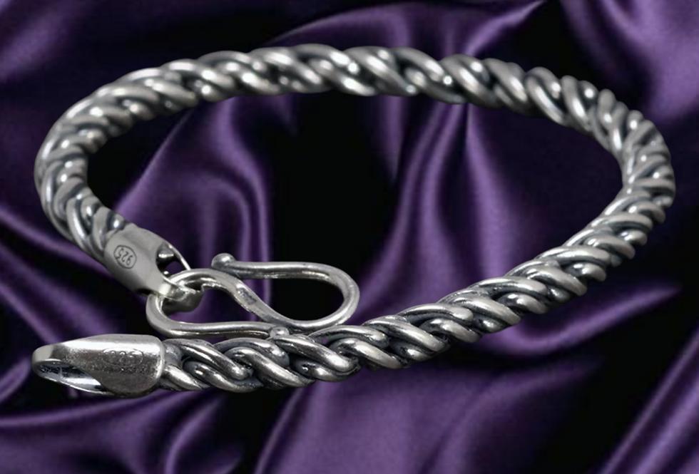 925 Sterling Silver Braided Chain Bracelet