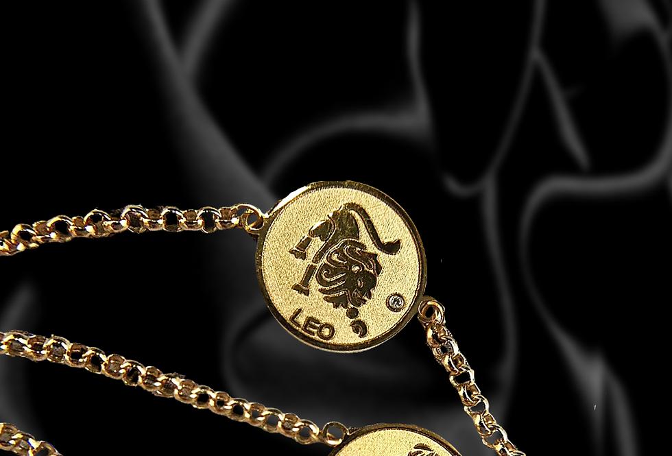 18kt Solid Gold Zodiac Bracelet