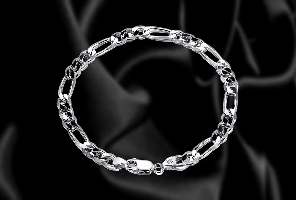 5mm diamond cut figaro bracelet