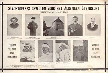 Slachtoffers gevallen voor het algemeen stemrecht