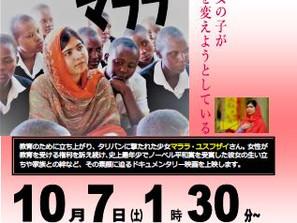 29年度 国際ガールズデー企画 無料映画上映「わたしはマララ」