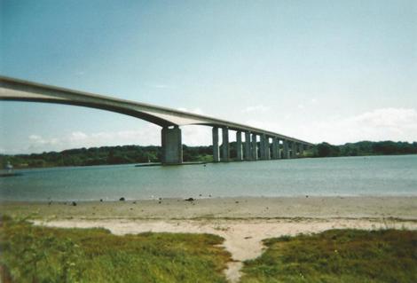 Orwell Bridge at High Tide