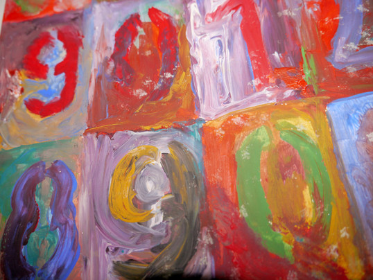 Jasper Johns Study of Numbers in Colour detail