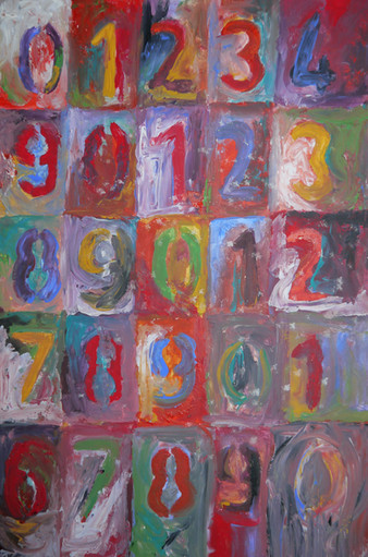 Jasper Johns Study of Numbers in Colour