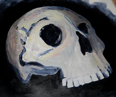 Maggi Hambling Skull study