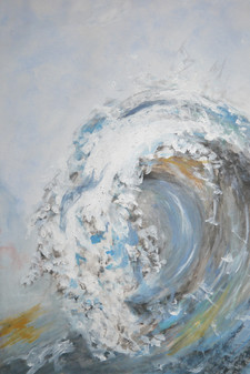 Bold Breaking Wave Study (Maggy Hambling)