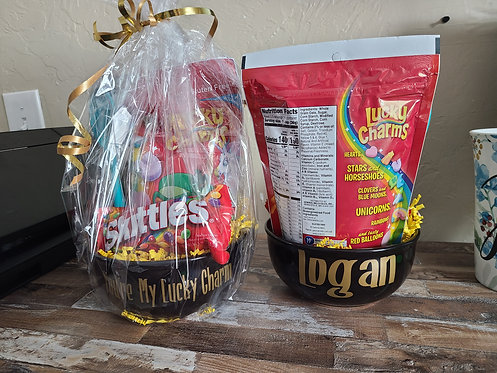 Custom Lucky Charm Gift Basket