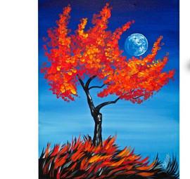 Tree Holding Moon